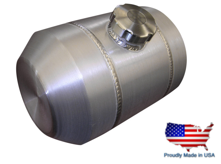 6 Gallon 12x13 Center Fill Spun Aluminum Gas Tank