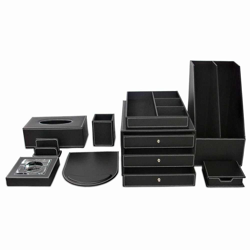Office supplies desk organizer t89 9pcs set storage box - Desk organizer sets ...