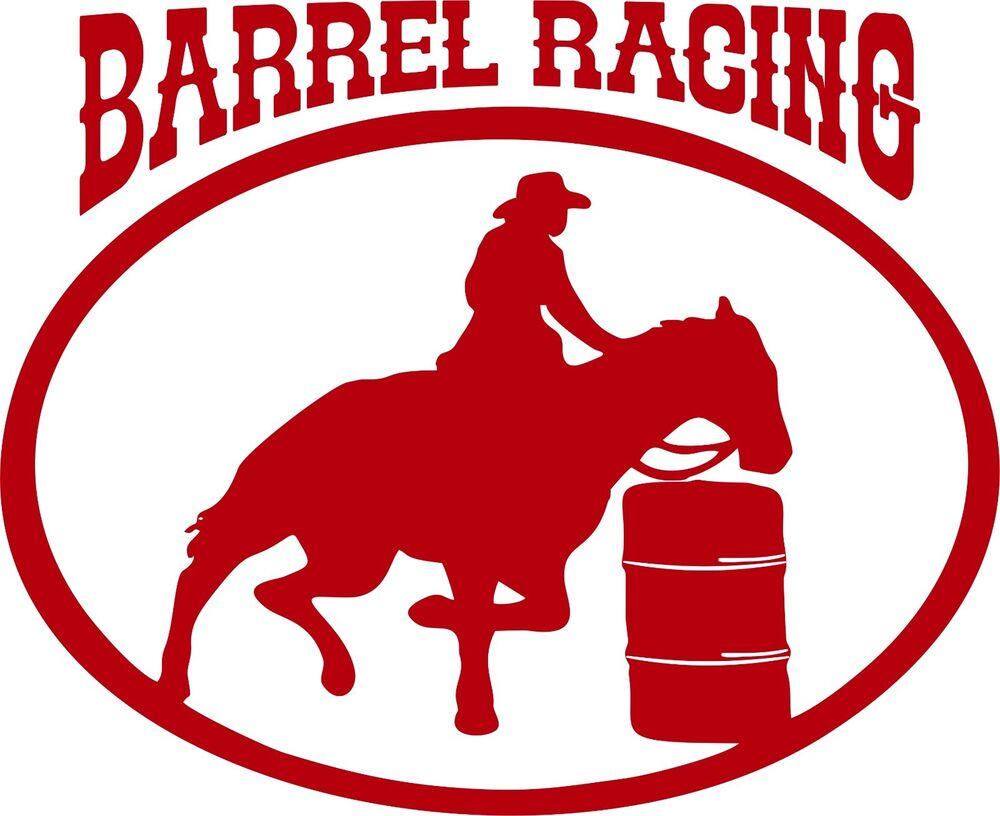 Barrel racing silhouette