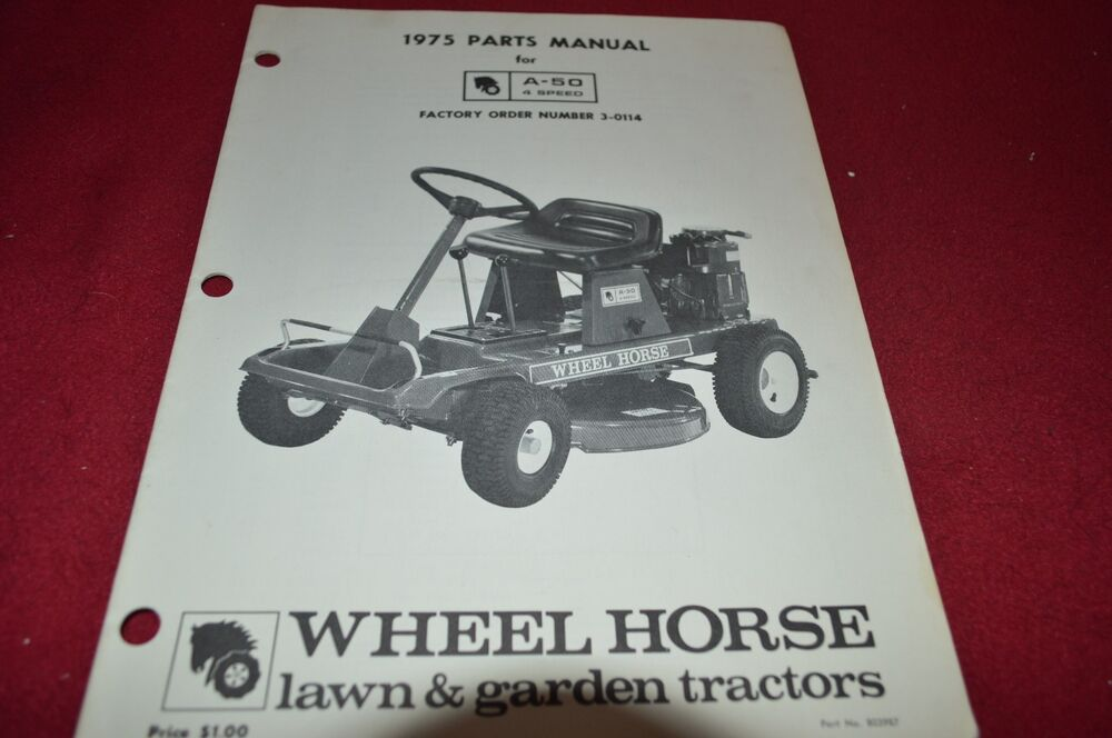 Wheel Horse A 50 Riding Mower Parts Book Manual Bvpa Ebay