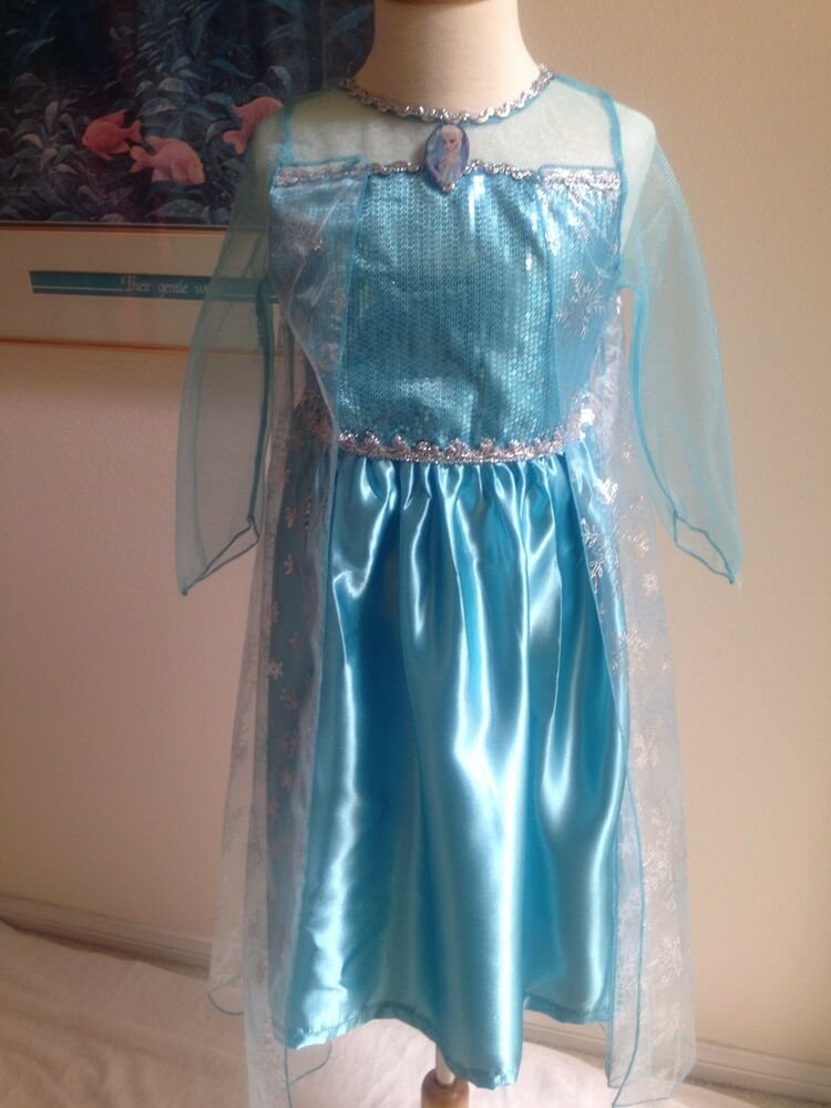 Frozen Queen Elsa Blue Dress Up Play Dress Girls 3 8