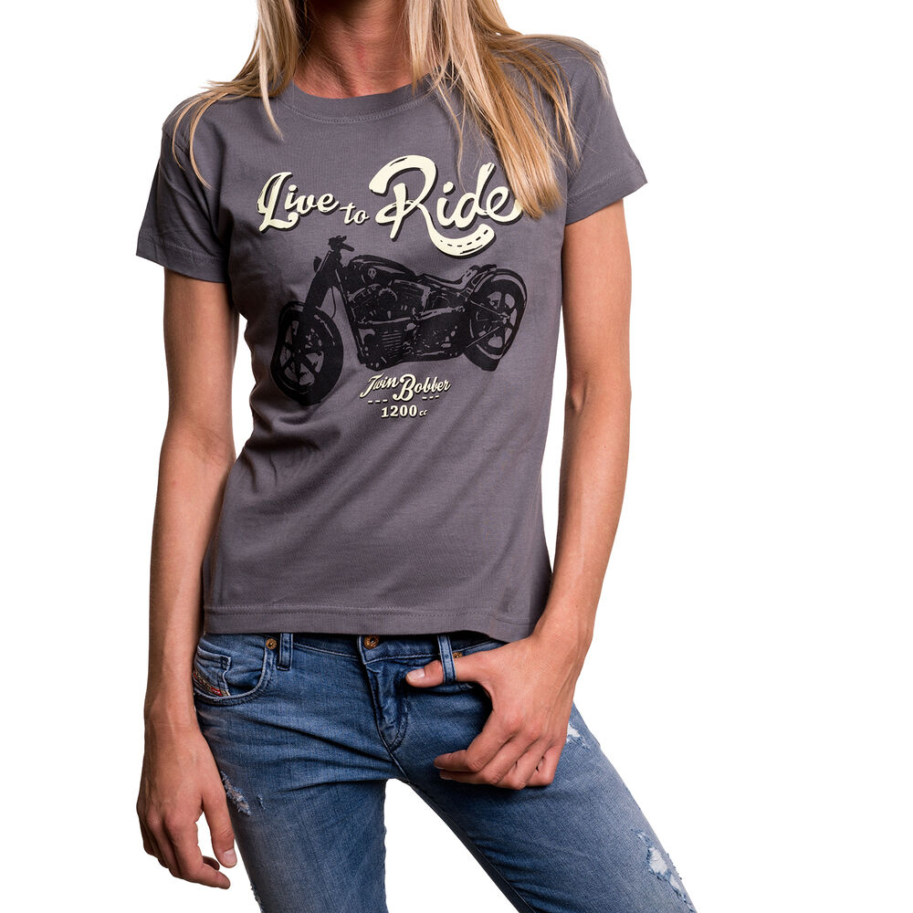 motorrad t shirt f r frauen biker chopper rockabilly damen. Black Bedroom Furniture Sets. Home Design Ideas
