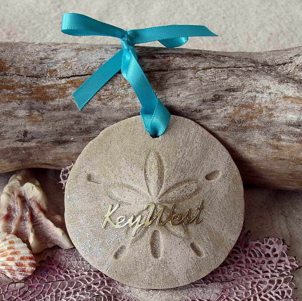 key west sand dollar christmas ornament tropical coastal