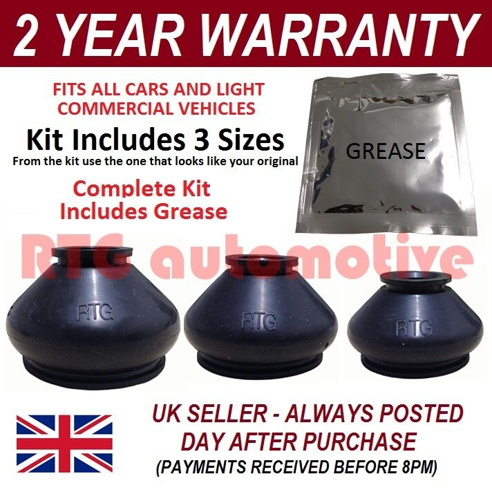 UNIVERSAL BALL JOINT TRACK ROD END RUBBER BOOT GAITER KIT + GREASE FITS ALL CARS   eBay