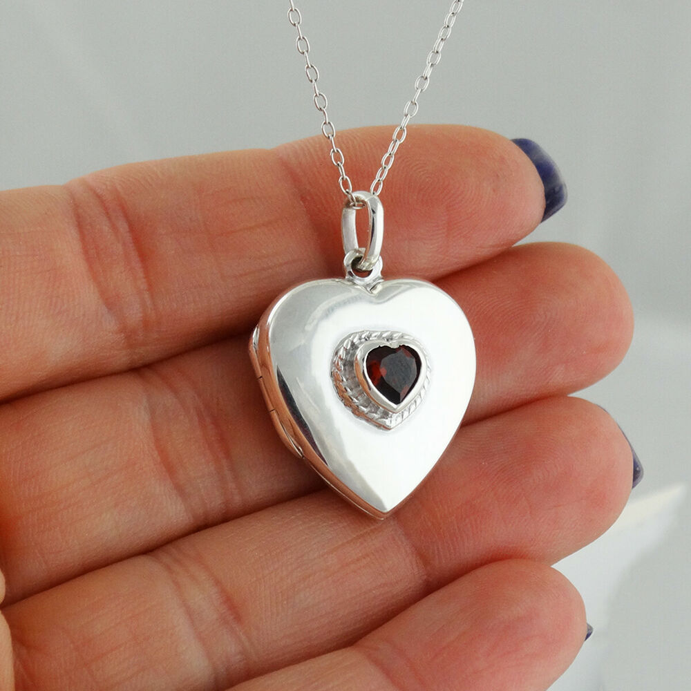 Heart locket necklace w cz 925 sterling silver holds 2 for L love jewelry reviews