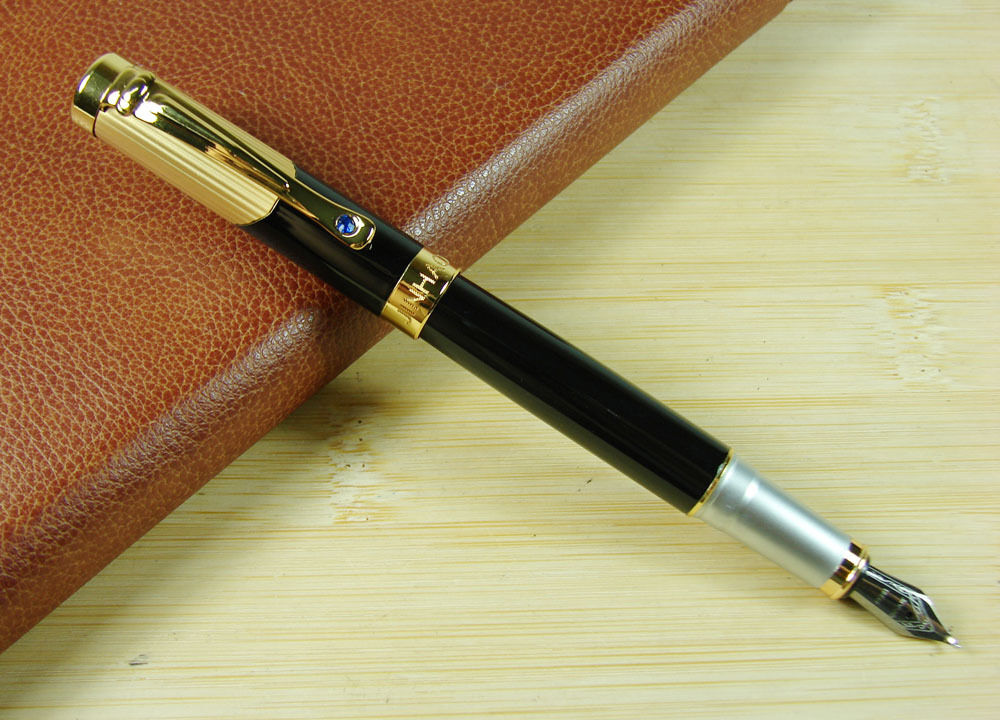 Jinhao calligraphy bent nib fountain pen jewelry clip