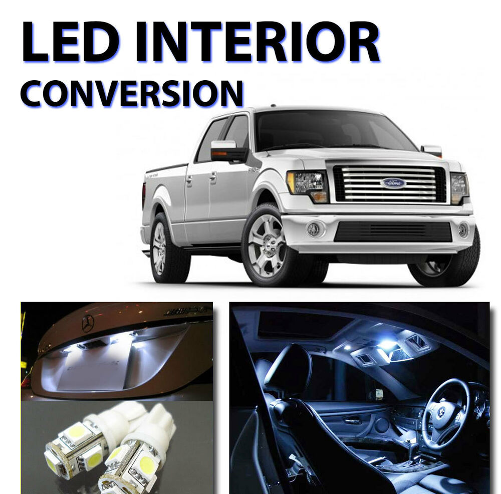 12pcs Bright White Led Lights Interior Package Kit For Ford F150 2010 2012 Ebay