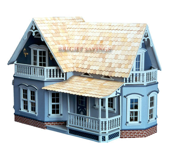 The Farmhouse Magnolia Doll House Kit Dollhouse Wood Ebay