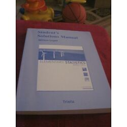 Student Solutions Manual for Elementary Statistics by Milton F. Loyer (2009,...