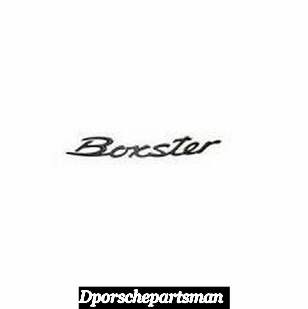 porsche boxster emblem black for trunk lid new ns. Black Bedroom Furniture Sets. Home Design Ideas