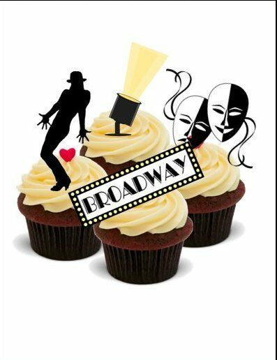 NOVELTY BROADWAY MIX 12 STAND UP Edible Cake Toppers ...