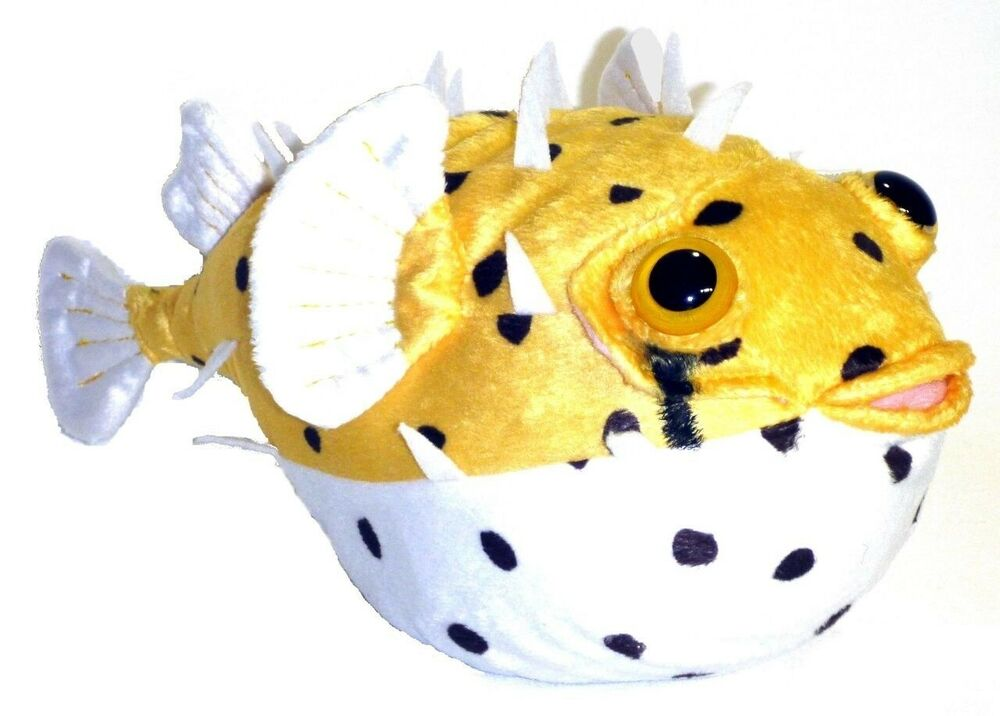 Adore 12 fugu the porcupine pufferfish stuffed animal for Fish stuffed animal