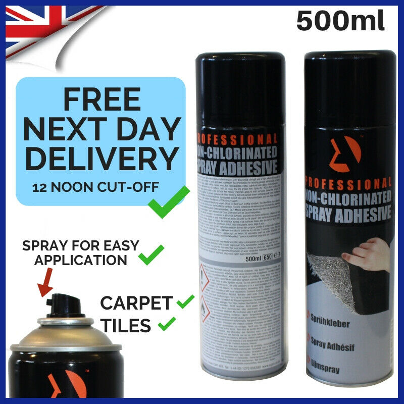 6 cans heavy duty carpet adhesive spray glue foam upholstery 500ml ebay. Black Bedroom Furniture Sets. Home Design Ideas