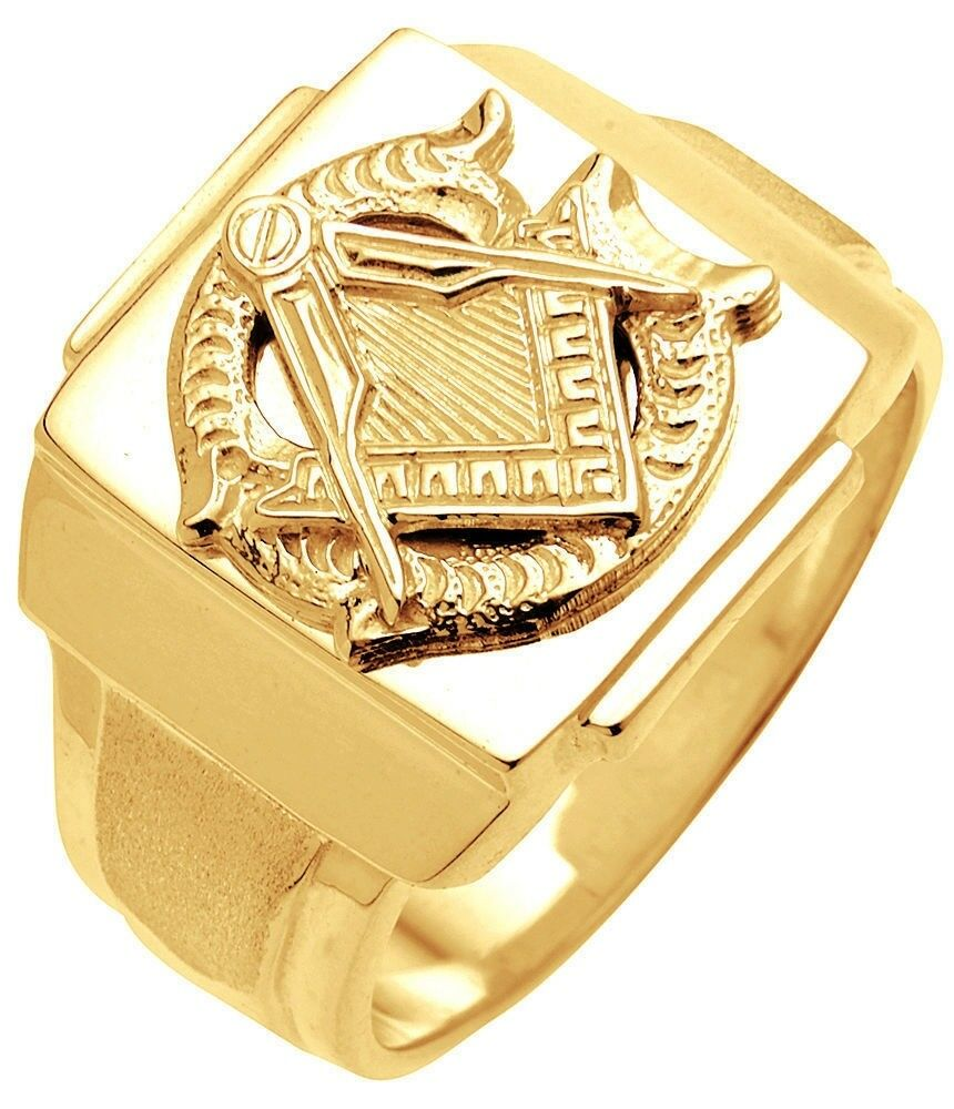 10k 14k white or yellow gold masonic blue lodge freemason