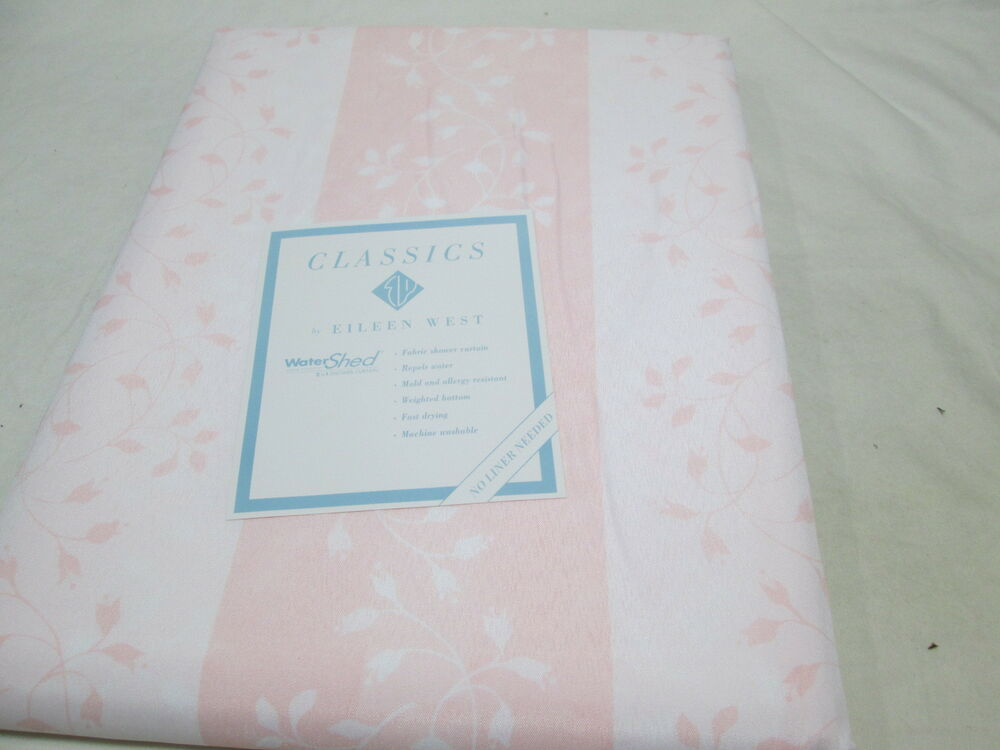 ... West Flower Toile WaterShed Shower Curtain Pink/White NIP | eBay