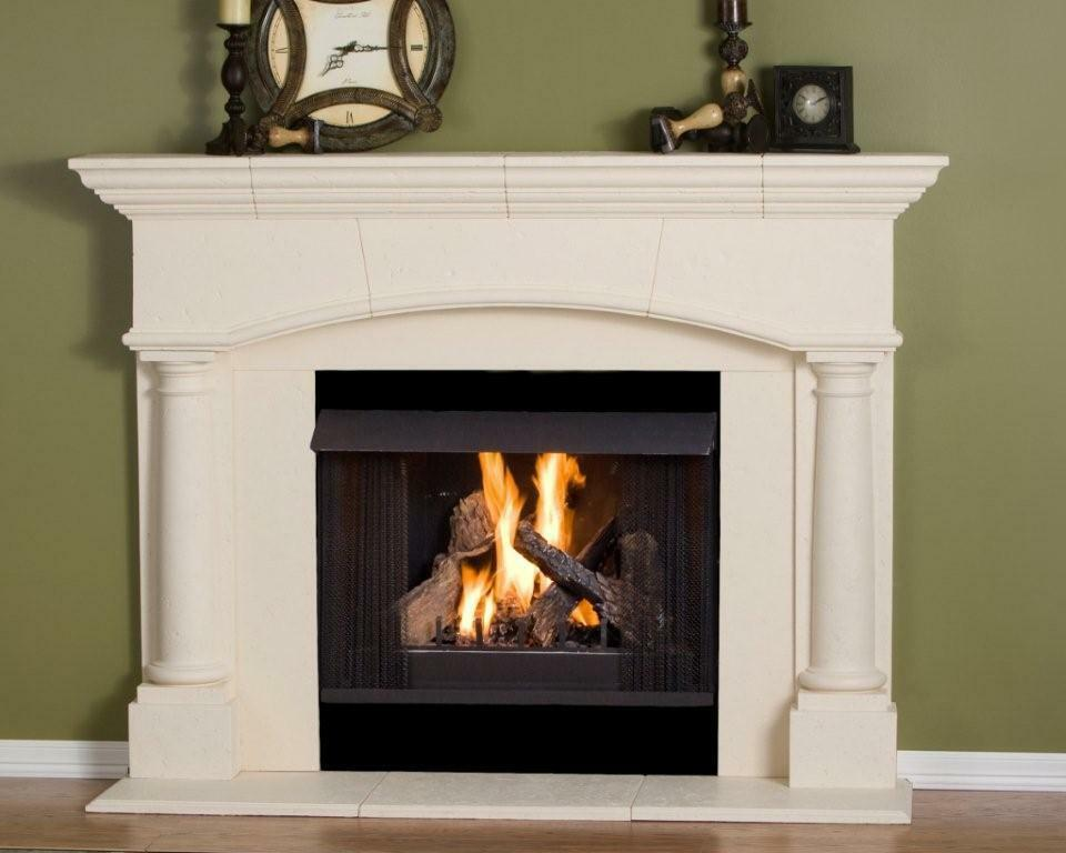 fireplace mantel mantle surround pre cast stone non combustible mantel ebay. Black Bedroom Furniture Sets. Home Design Ideas