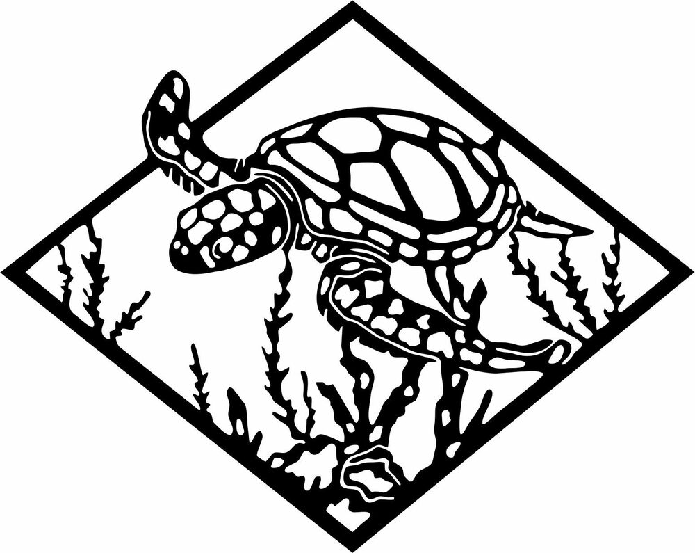 Sea Turtle Ocean Car Truck Window Laptop Vinyl Decal