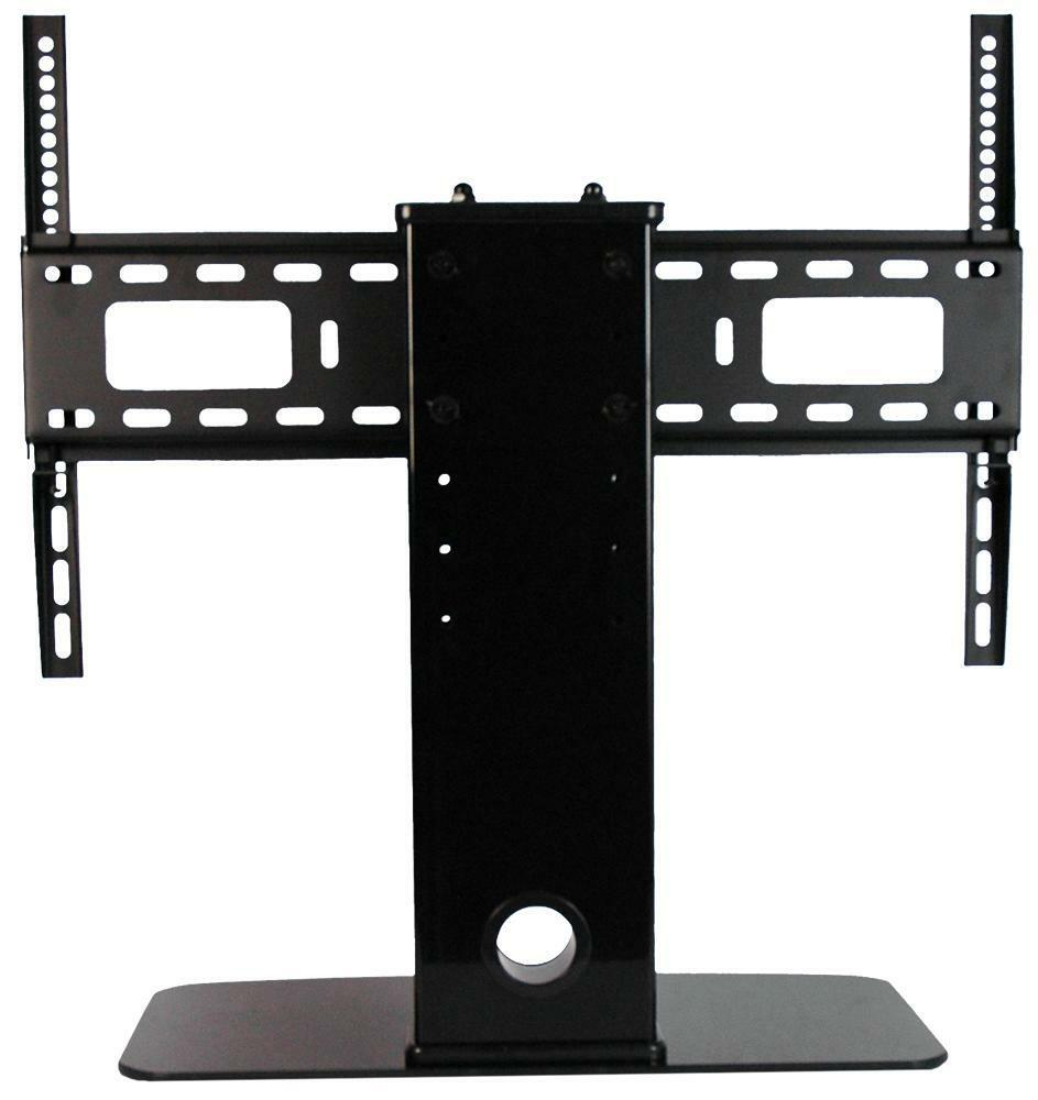 new universal tv stand pedestal base fits most 32 60 panasonic lcd led plasma ebay. Black Bedroom Furniture Sets. Home Design Ideas