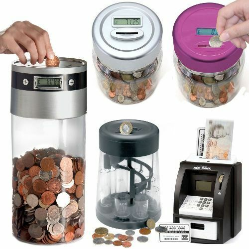 Digital coin counter lcd display jumbo jar sorter money Coin sorting bank for kids