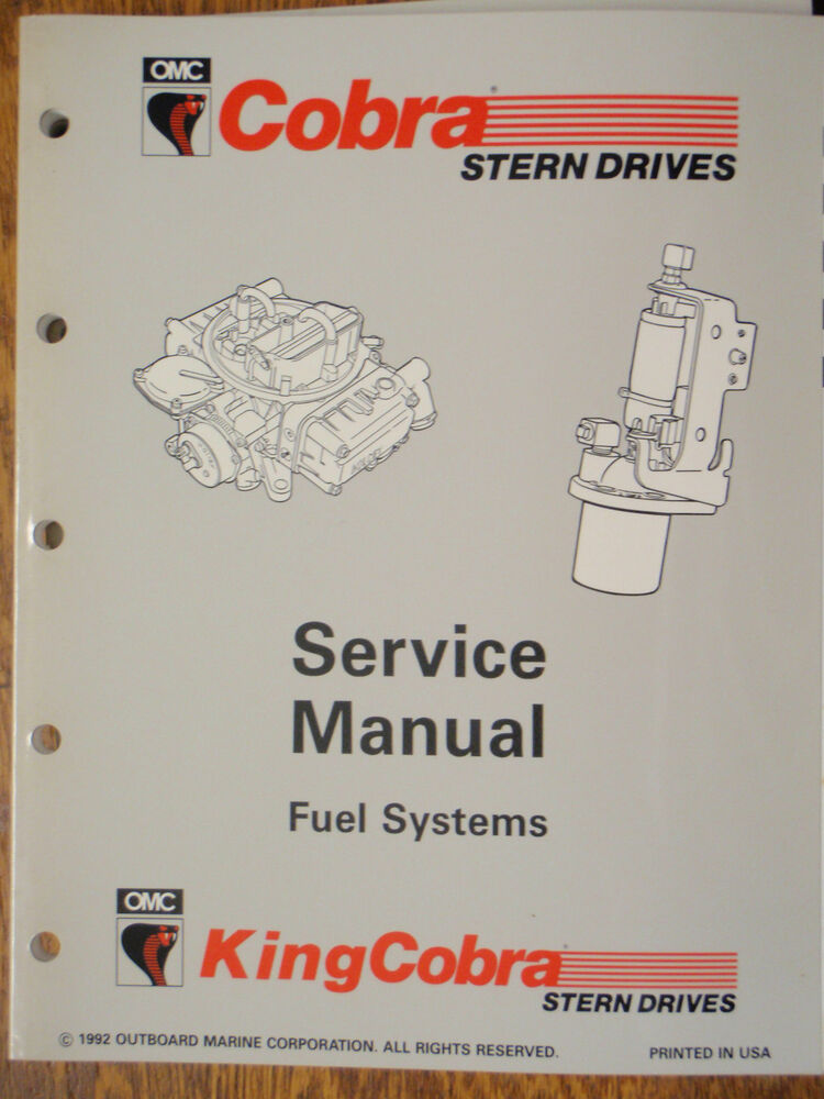Omc Cobra Stern Drive Engine Fuel Systems Service Manual border=