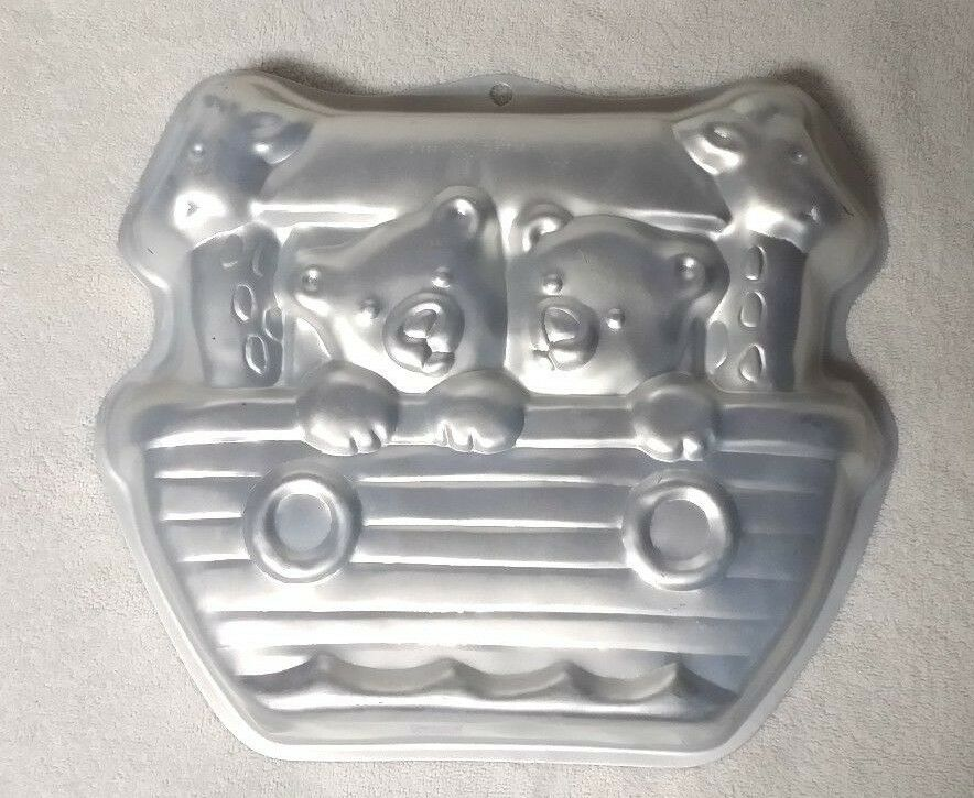 ark cake pan tin mold 2105 2026 bears giraffes baby shower 1999 ebay