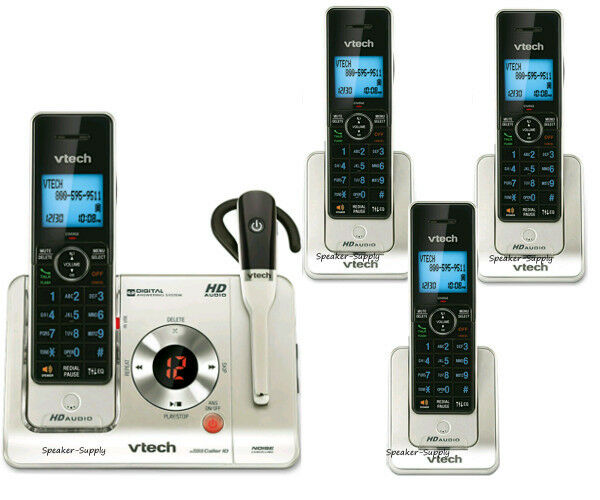 Vtech Voice ID Answering System 4 Cordless Phones