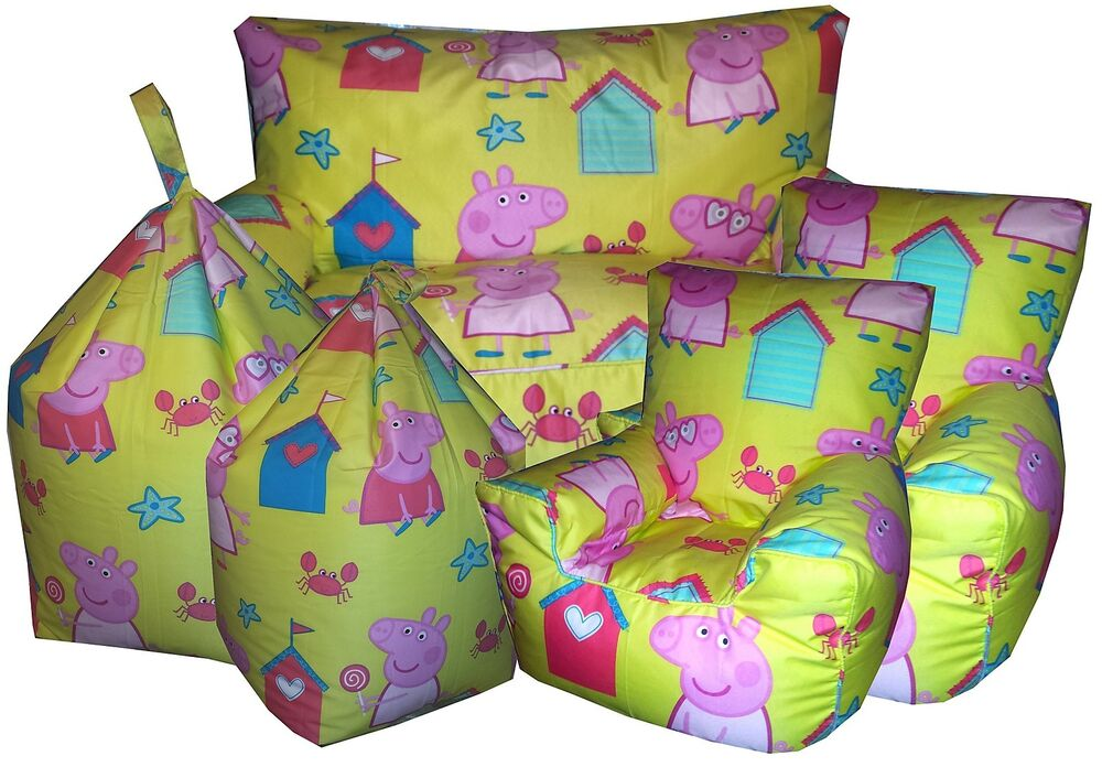 Peppa Pig Beanbags Childrens Character Bean Chair Kids