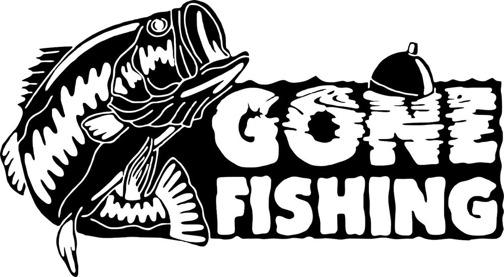 Bass fishing decals
