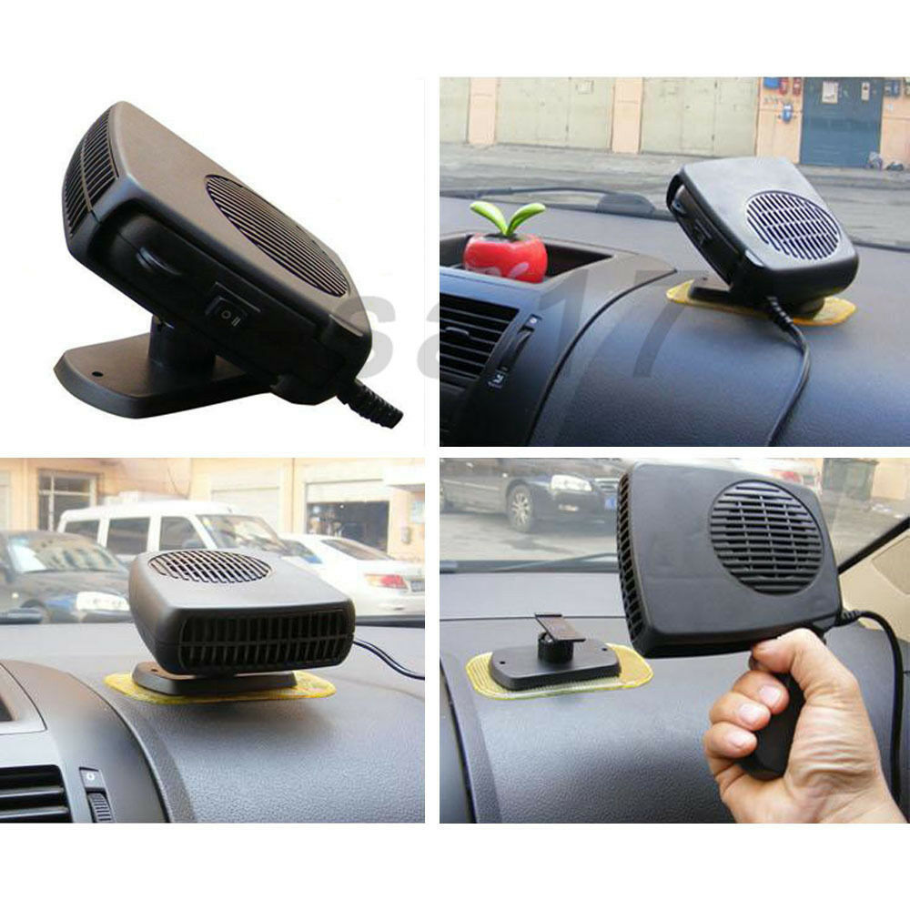 portable auto heater and defroster handy winter car window de icer ideaworks ebay. Black Bedroom Furniture Sets. Home Design Ideas