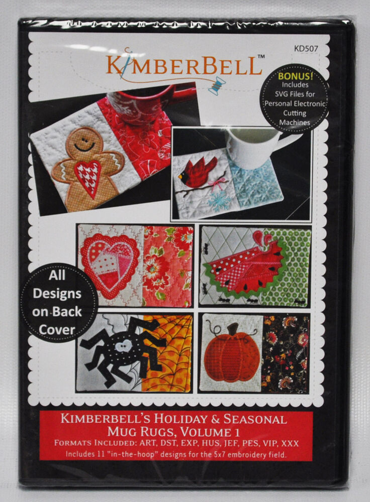 Kimberbell s holiday seasonal mug rugs volume