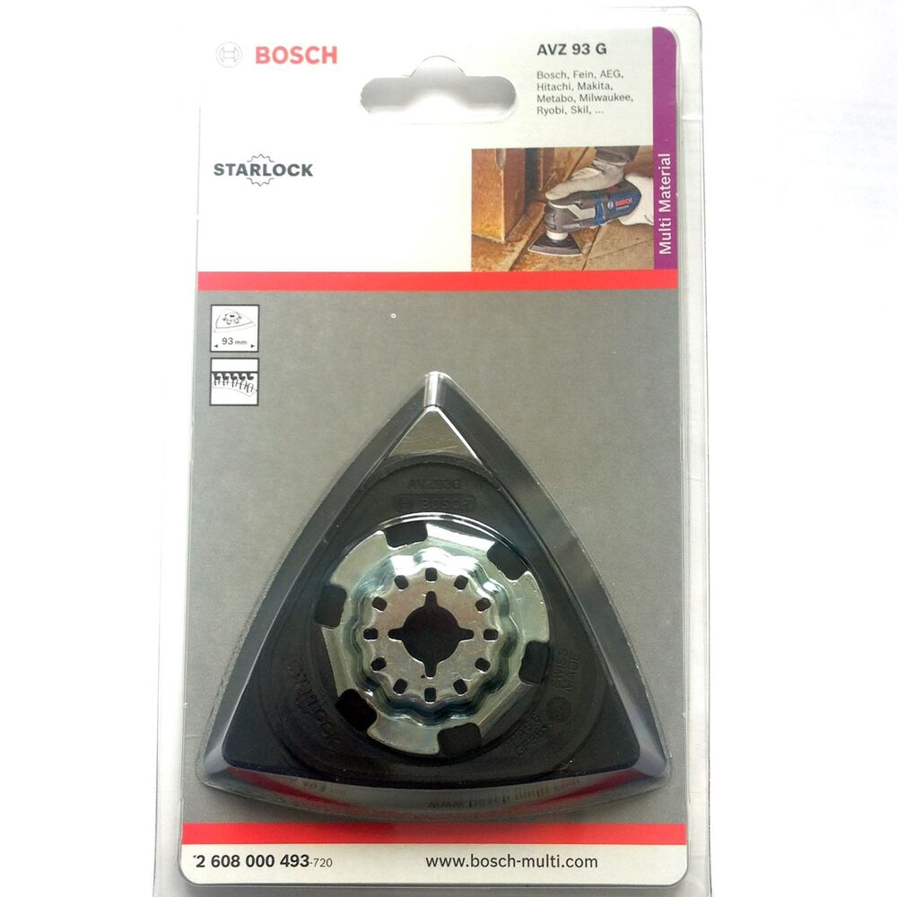 bosch sanding backing pad plate for gop pmf 180 190 250 300 10 8 18v multi tool ebay. Black Bedroom Furniture Sets. Home Design Ideas