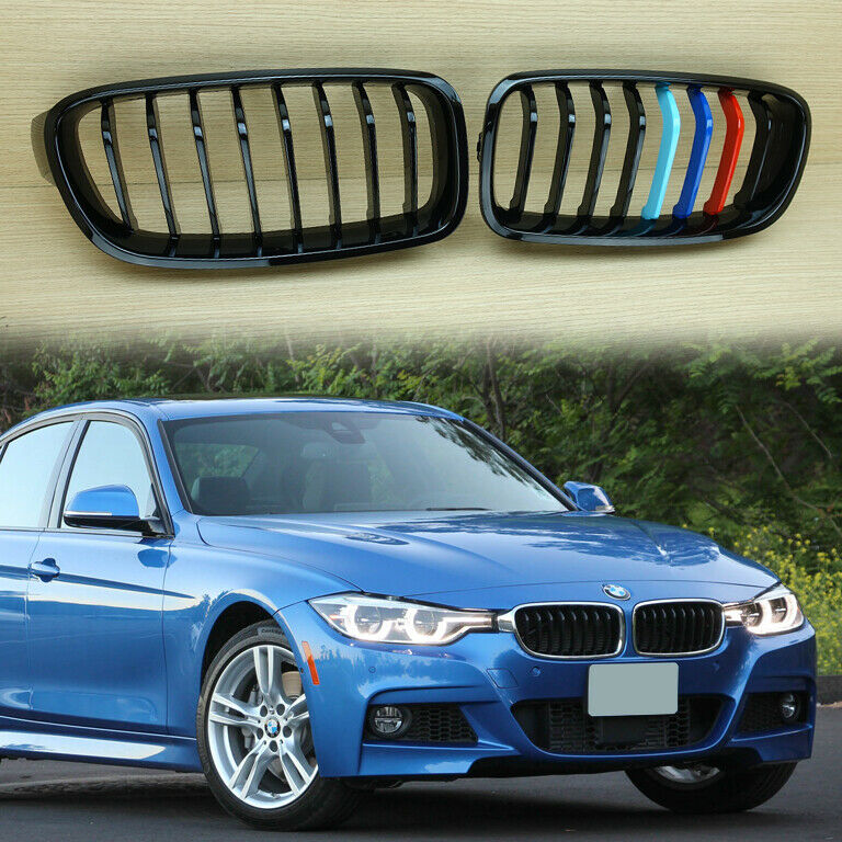 Bmw Grills: Glossy Black ///M Color BMW F30 F31 Front Kidney Grille