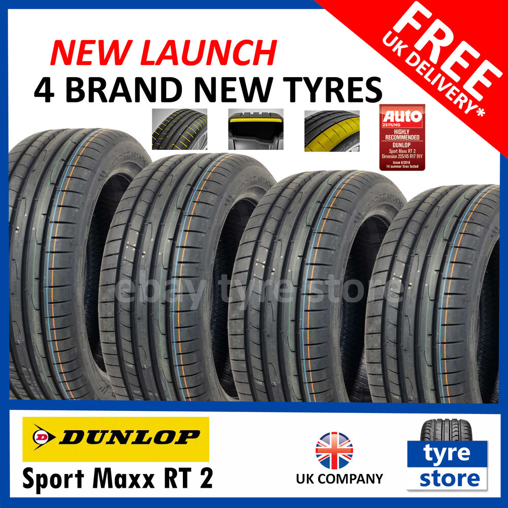 4x new 225 40 18 dunlop sport maxx rt 2 92y xl 225 40r18 2254018 4 tyres ebay. Black Bedroom Furniture Sets. Home Design Ideas