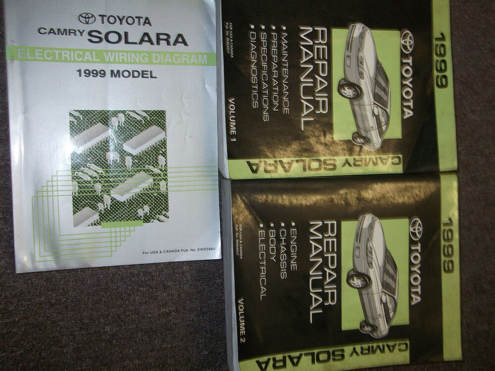 1999 Toyota Camry Solara Service Shop Repair Manual Set Factory W Wiring Diagram