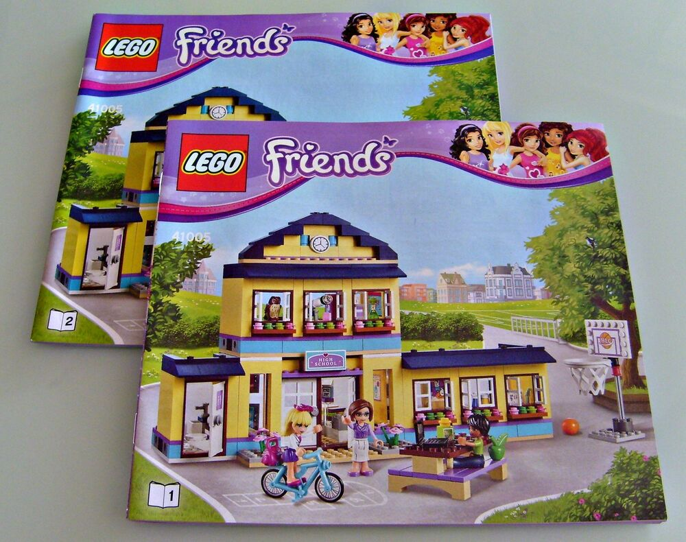 neuware lego bauanleitung 41005 friends olivias schule heartlake high ebay. Black Bedroom Furniture Sets. Home Design Ideas