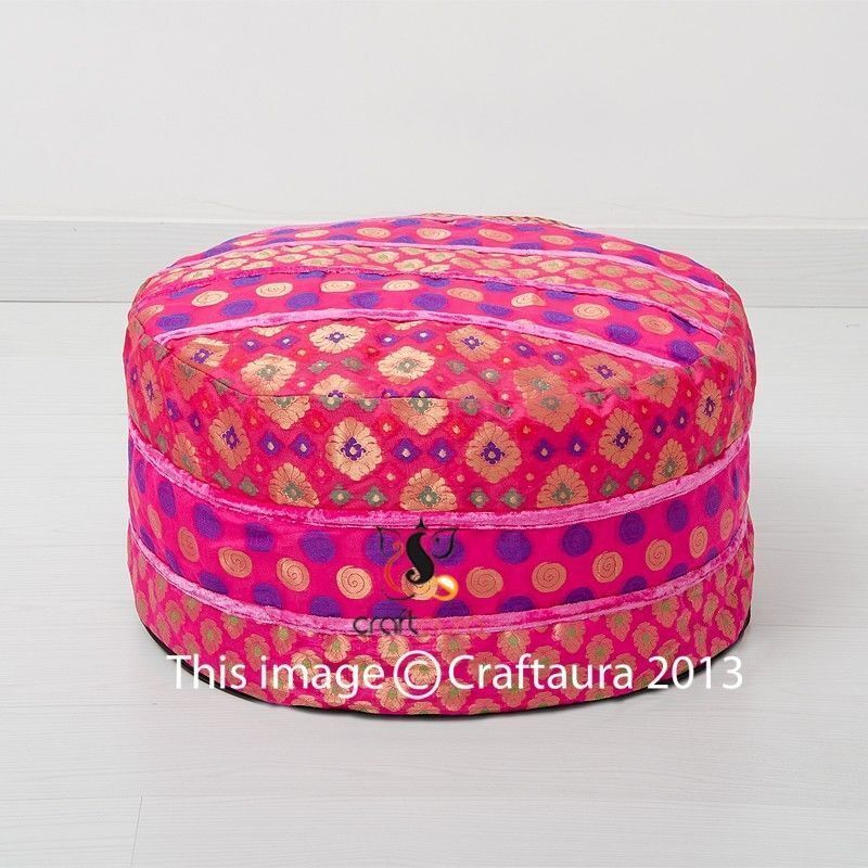 Indian Ottoman Pouf for Home