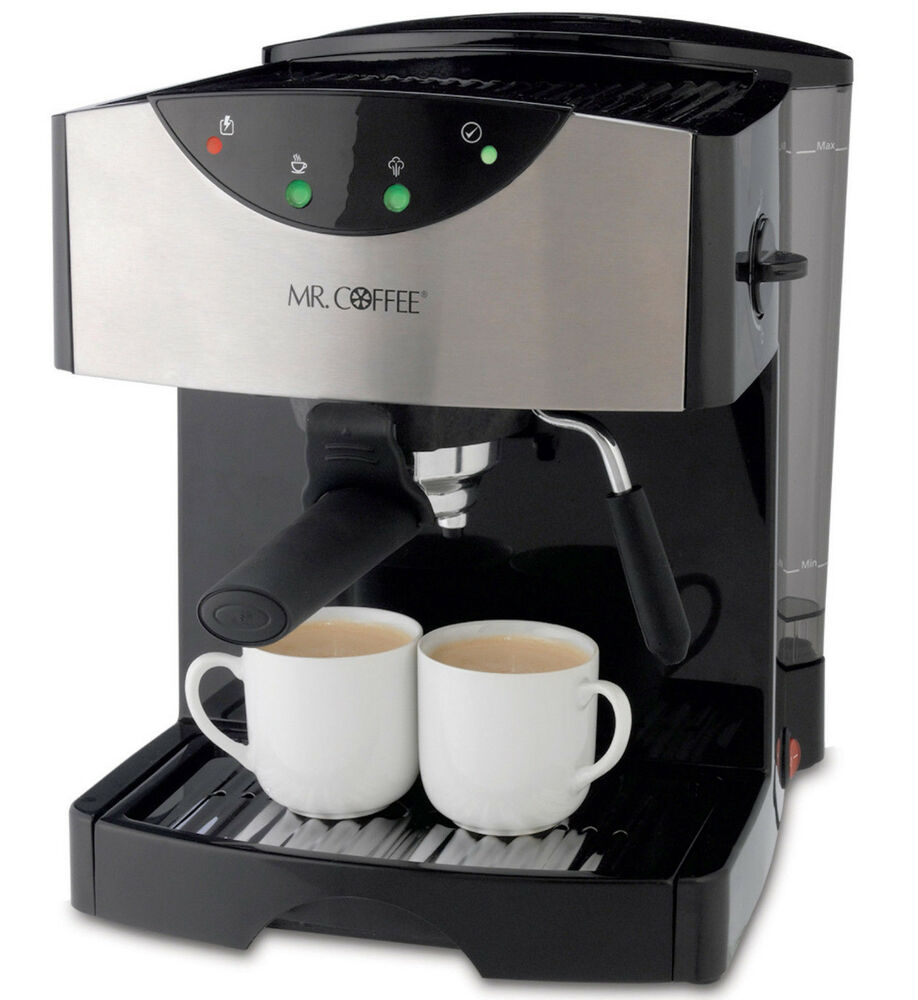 new mr coffee steam espresso machine hot cappuccino latte froth maker cafe 885909727902 ebay. Black Bedroom Furniture Sets. Home Design Ideas