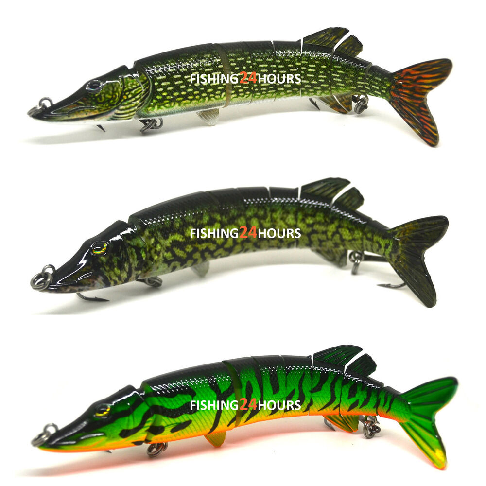 "5"", 8"" Pike Muskie Fishing Bait Swimbait Lure Life-like ..."