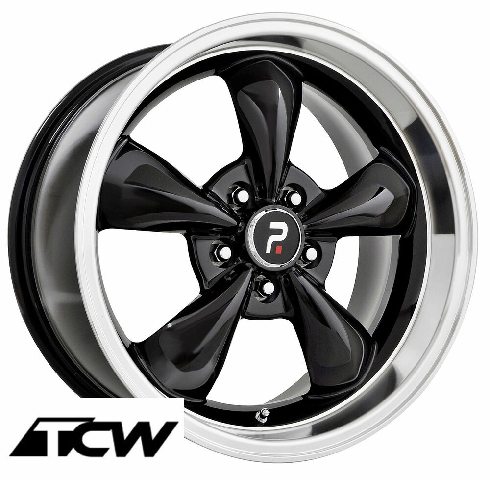 4 17x8 Quot Inch Bullitt Replica Black Wheels Rims 5x4 50 Quot Fit Ford Mustang 65 73 Ebay