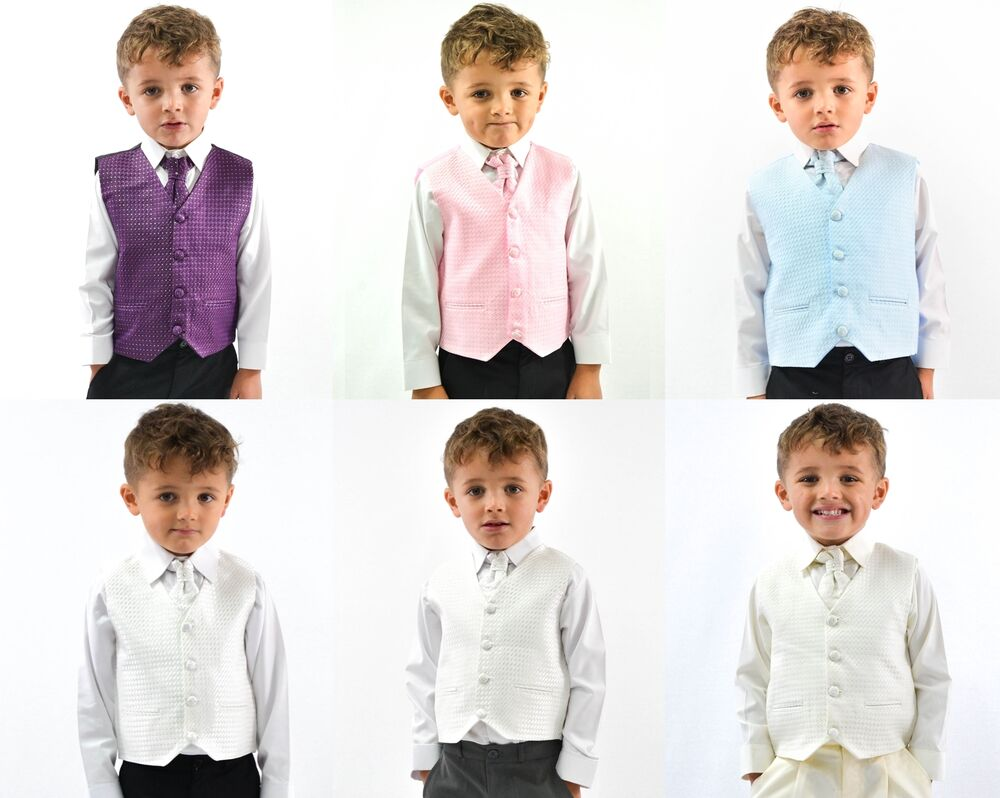 Boys Suits Waistcoat Suits Boys Wedding Suits 4pc Baby ...