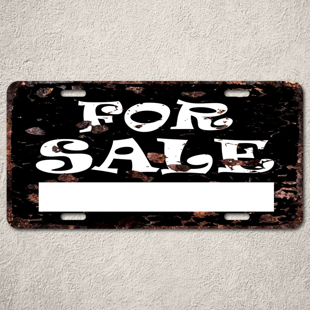 Lp0058 For Sale Sign Rust Vintage Auto Car License Plate Home Decor Ebay