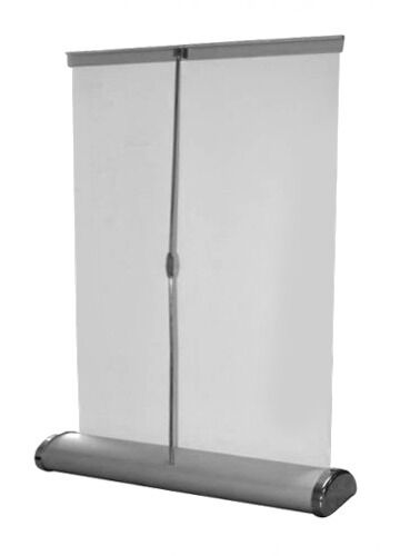 Counter retractable banner stand 8 x 12 table top roll for Table bar retractable