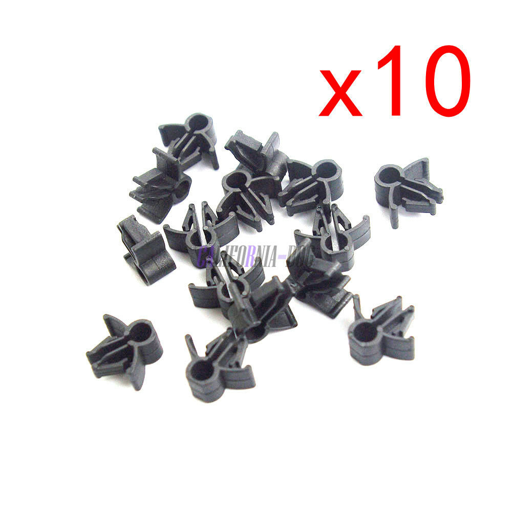 10pcs Wire Cable Loom Routing Harness Clip Retainer 90654-SA4-003 6mm For  Honda
