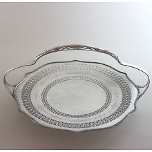 Sheffield Silver plate Reticulated footed Bridal Basket