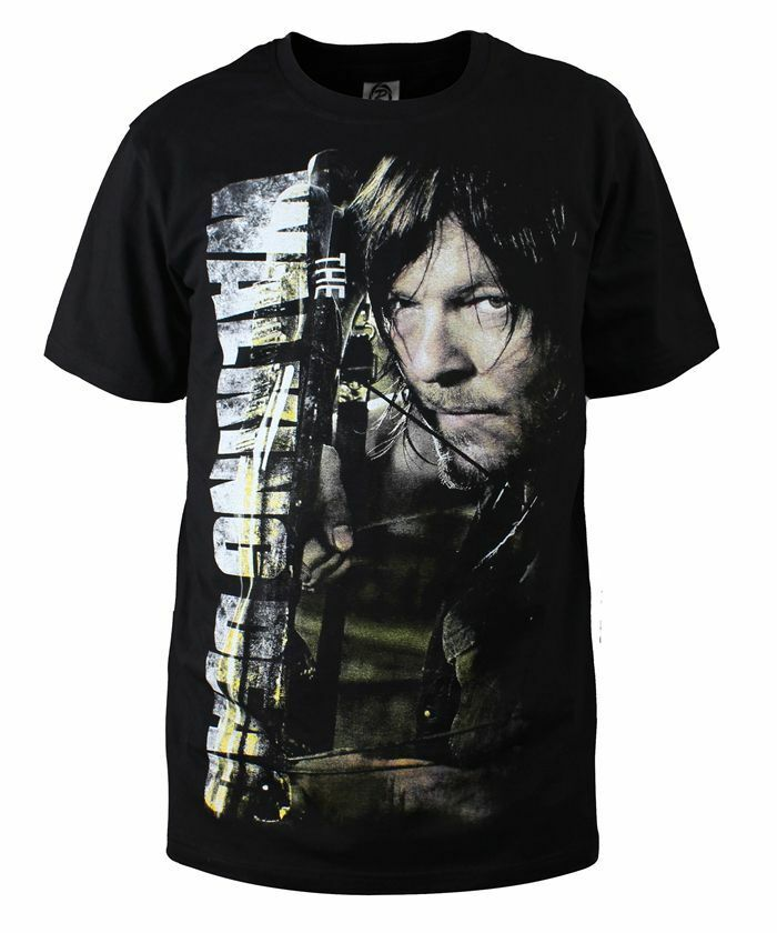 High quality New Black Cotton daryl dixon T-shirt for the walking dead ...