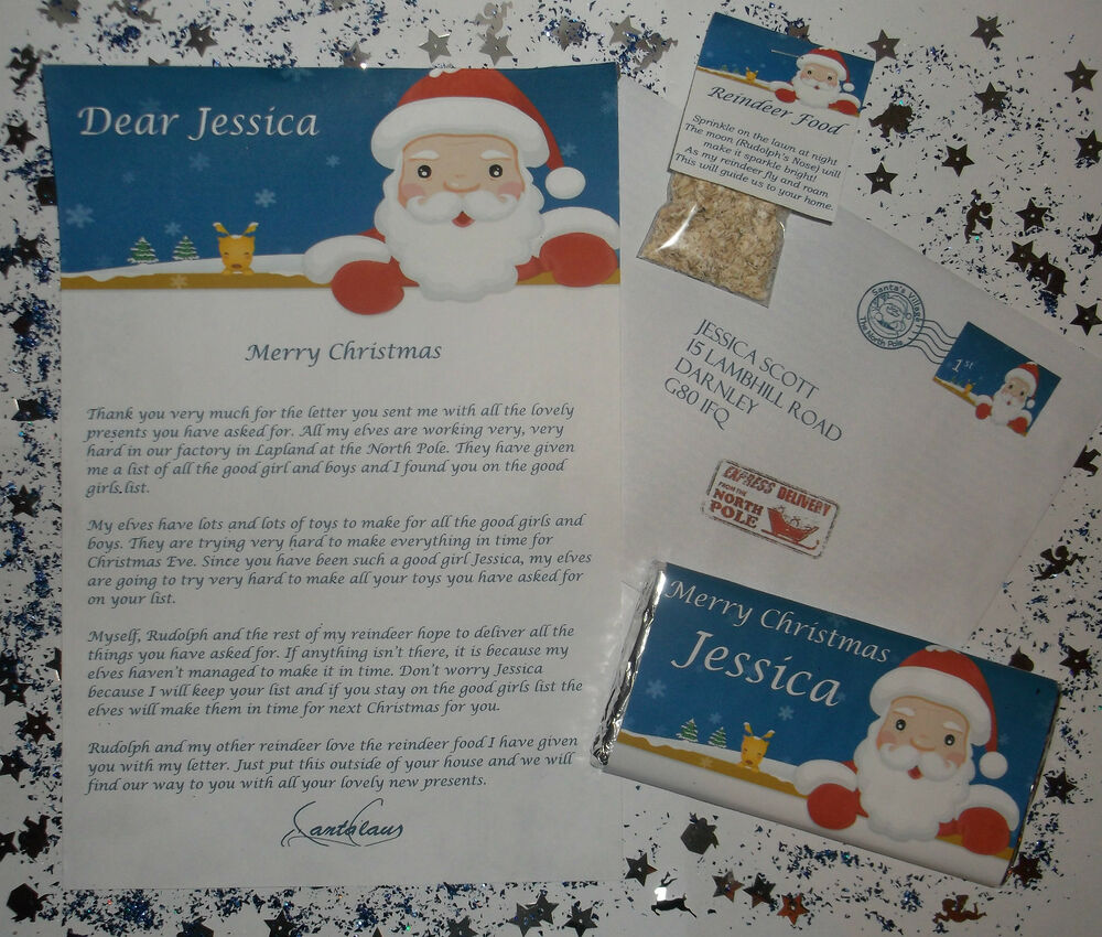 Letter From Santa Reply Reindeer Dust Food Personalised