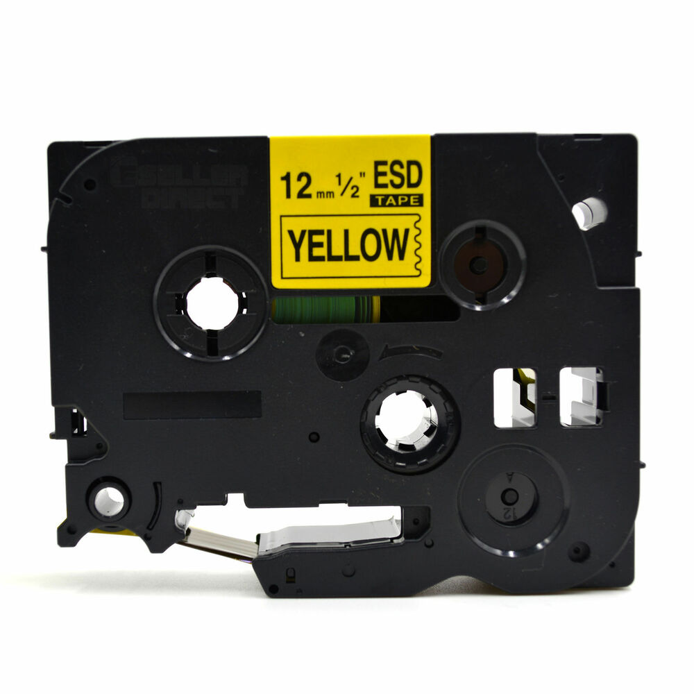 compatible brother tz 631 p touch black on yellow label tape 12mm x 8m tze 631 ebay. Black Bedroom Furniture Sets. Home Design Ideas