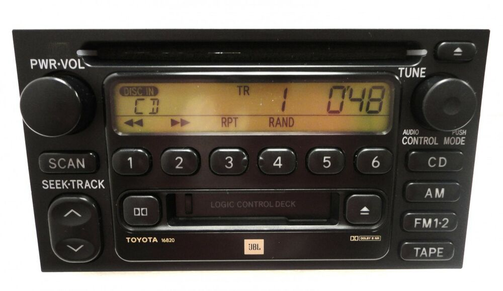 2000 01 02 03 toyota sienna solara tundra jbl radio stereo. Black Bedroom Furniture Sets. Home Design Ideas