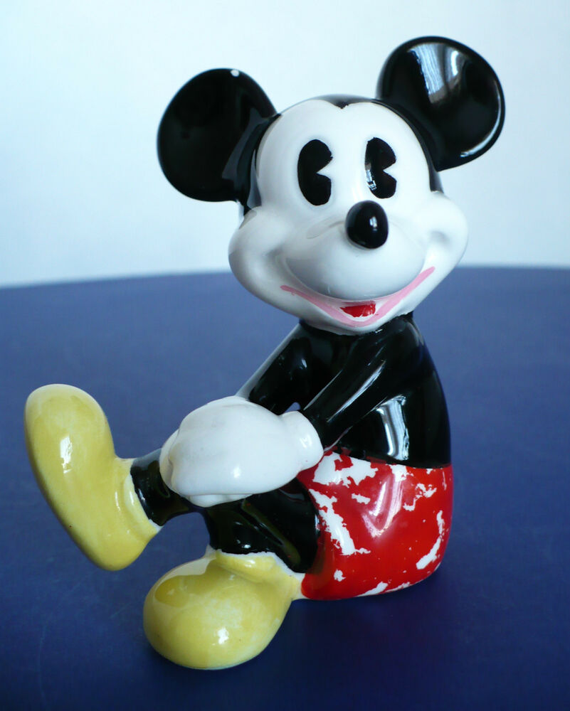 Vintage Disney Mickey Mouse Sitting W Legs Crossed