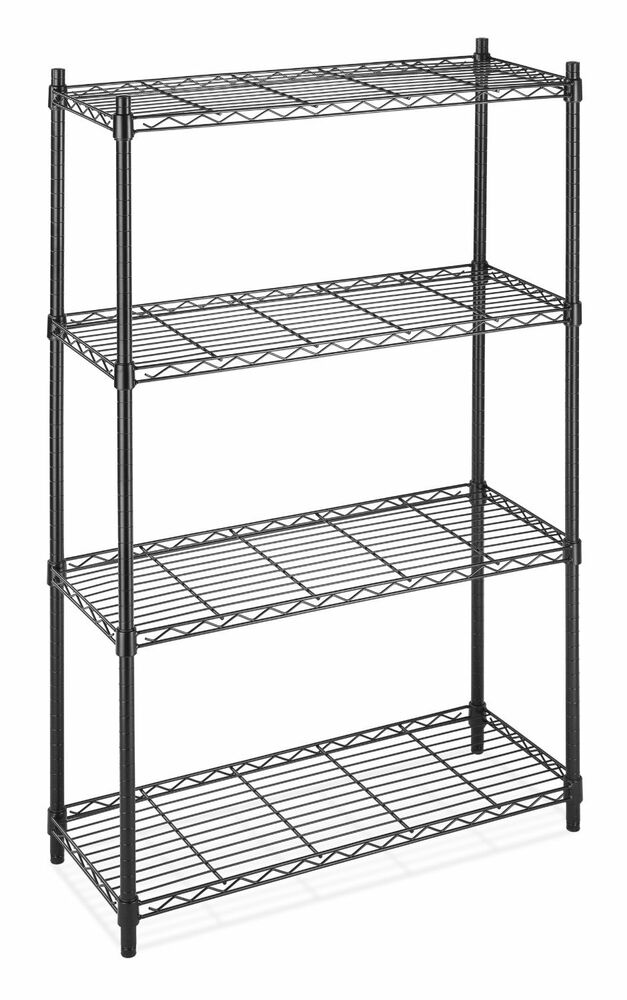 Commercial Shelf 4 Tier Adjustable Steel Wire Metal